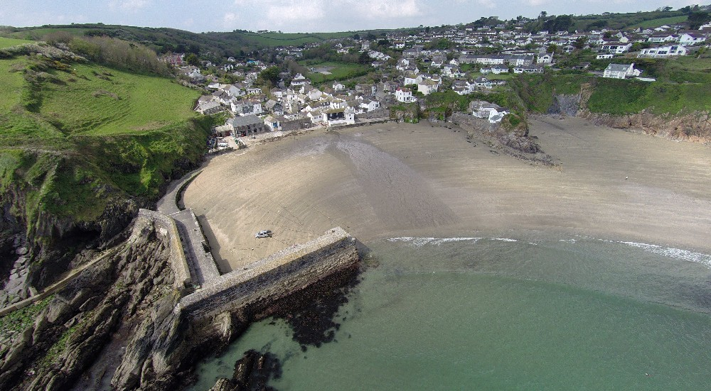 Aerial view of Gorran Haven taken with a drone by Tony Messenger