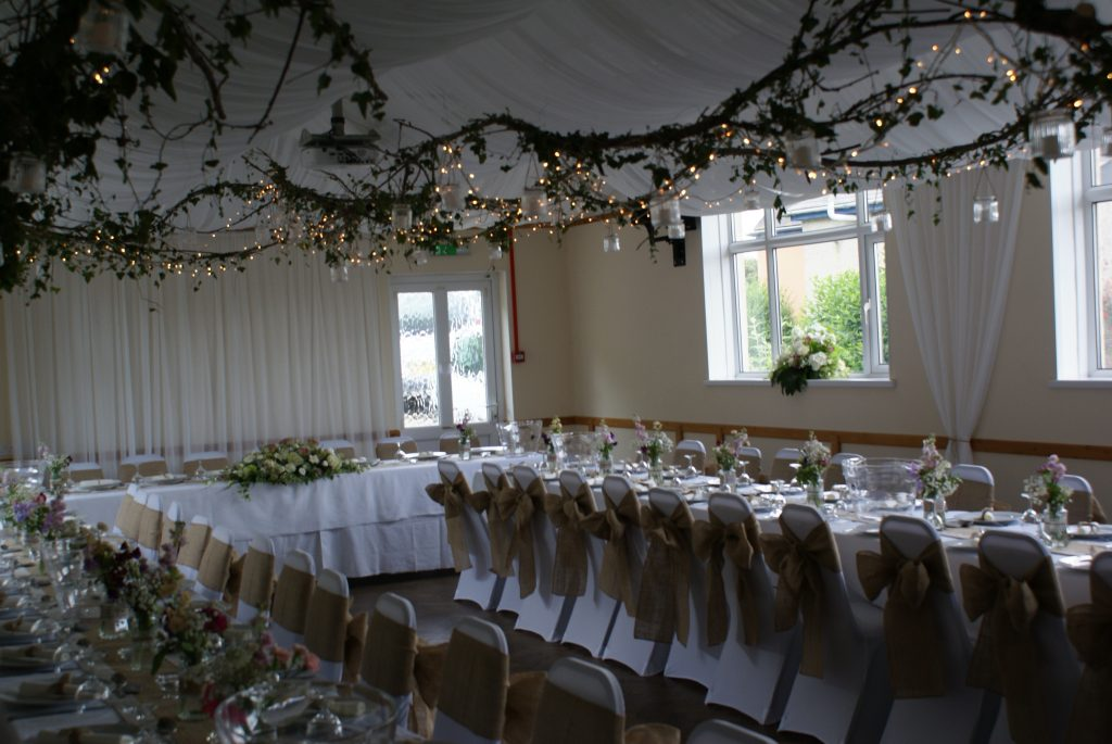 The Village Hall makes a wonderful venue for a wedding reception.